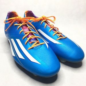 Adidas f30 Blue White Cleats TRX FG Size Mens Shoe